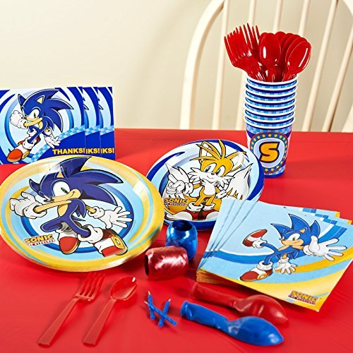 Sonic the Hedgehog Basic Party Pack for 8 by Birthday Express (Sonic The Hedgehog Basic Party Pack)