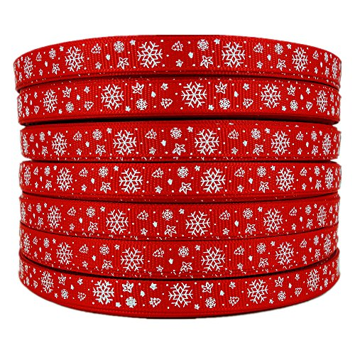 Red Snowflake Ribbon