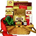 Bounty of Flavor Gourmet Food Picnic Hamper Gift Basket with Smoked Salmon, (Chocolate Option)