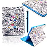 DEENOR Cute bunny style Designer Custodia in pelle Borsa Smart Cover Case per Apple iPad 2 iPad 3 iPad 4 + Omaggio...