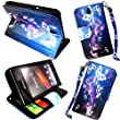 MobileExtraLtd� For Sony Xperia E C1505 C1504 Ultra Butterfly Style 7 Book Pouch Card Holder With Lanyard Stand Printed PU Leather Magnetic Flip Case Cover + Stylus