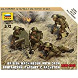 1 72 British Machine Gun w Crew, Snap Kit by Dragon Models USA