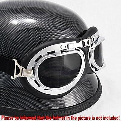 HAMIST WWII RAF Aviator Pilot Motorcycle Half helmet Goggles