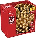 Brite Ideas Festive 200 Twinkling Fairy Lights, Clear