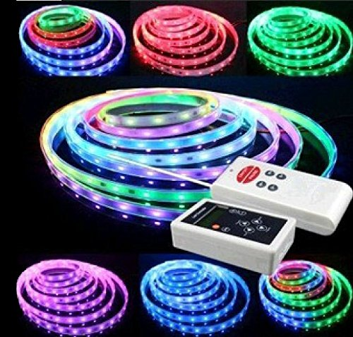 Greatlight 5M 5050 Rgb Built In 6803 Ic Chip Led Dream Color Strip Light + 133 Effects Rf Controller