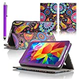 Juju Village Samsung Galaxy Tab 4 7 Inch Tablet Jellyfish Polka Dots Case + Screen Protector + Stylus Pen