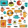 RoomMates Repositionable Wall Stickers Café