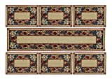 La elite 100% Cotton Traditonal Dinning Table Runner with 6 Place Mats