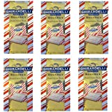 Ghirardelli Peppermint Bark Squares 4.57 Oz Package (6 Pack)