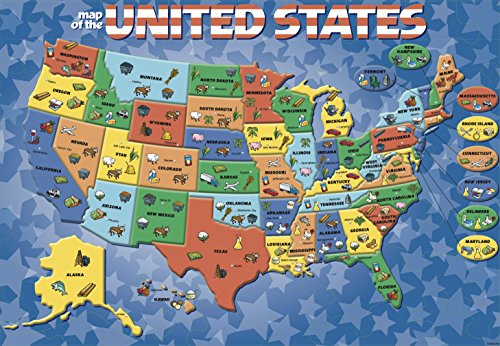 Cardinal Industries USA Map Puzzle