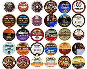 30-count Coffee & Flavored Coffee Single Serve Cups For Keurig K Cup Brewers Variety Pack Sampler