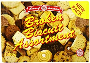House Of Lancaster Broken Assortment Biscuits 1300 g (Pack of 4)