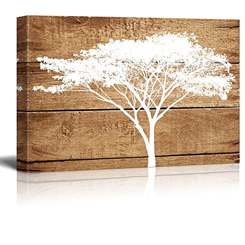 wall26-canvas-prints-wall-art-artistic-abstract-acacia-tree-on-vintage-wood-background-24-x-36