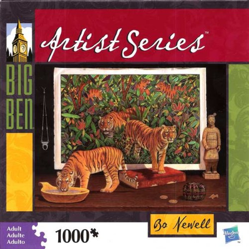 Bo Newell 1000 Piece Puzzle Animal Encounters Tigers