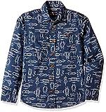 Flying Machine Boys' Shirt (FKSH5108_Navy_L)