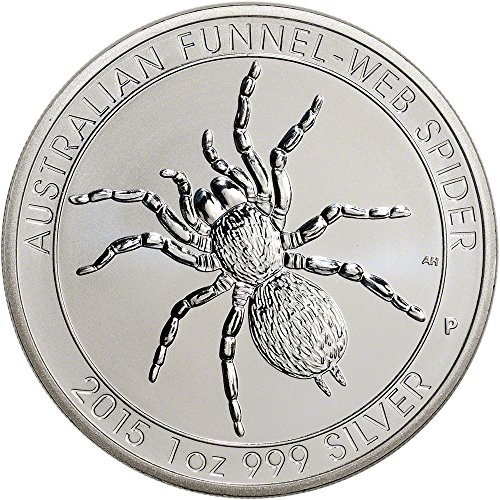 2015 AU Australia Silver Funnel-Web Spider (1 oz) - BU $1 BU Perth Mint