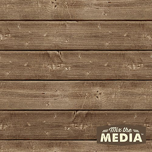 Hampton Art Mix The Media Wooden Plank Plaque, 12