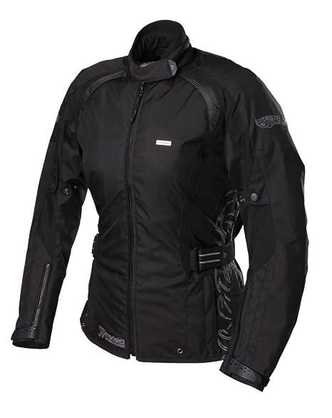 Mona lady eVO veste de moto en tissu pour femme-couleur :  noir-taille :  xXL = taille 46