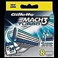 Gillette Mach3 Turbo Refill Razor Blades - Pack of 8