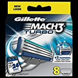 Gillette Mach3 Turbo Refill Razor Blades - Pack of 8