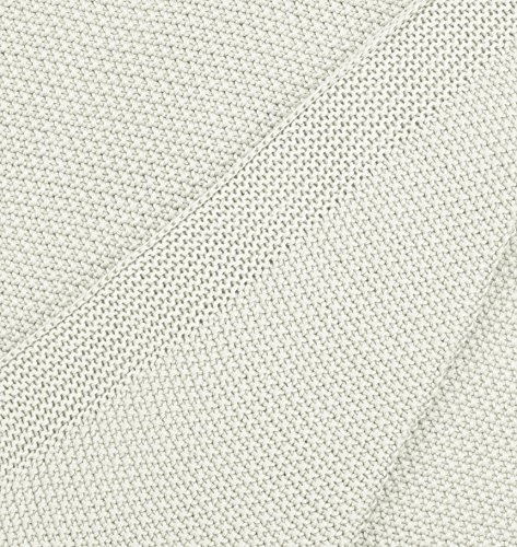 Marc O'Polo 730015-106-000 Decke Timeless Knitted, Maße: 130 x 170 cm, Material: 100% Baumwolle, Farbe: Wollweiß