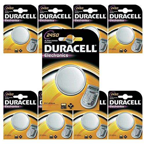 VCONCAL Vconcal (TM) DURACELL 10 piles bouton Lithium CR2450 DL2450 2450 K2450L