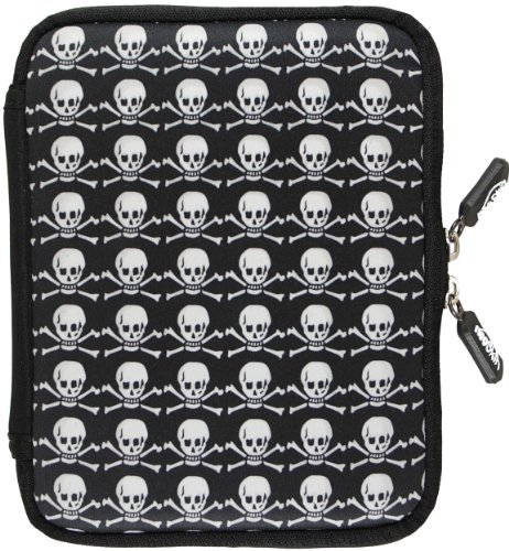 NeoSkin Nook 2nd Edition Zip Sleeve, Skulls and Crossbones (Neoprene Nook 2nd Edition Cover, Nook 2nd Edition Case)
