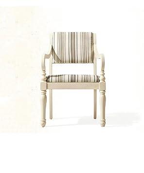 ZEMIN Poltrona in legno massiccio multifunzione schienale schienale Poltrona morbida superficie soggiorno, colore a righe ( dimensioni : 58.6*60*88CM )