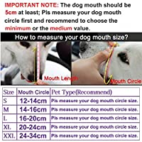 Freerun Dog Muzzle for Barking Biting Chewing Licking Nylon Mesh Comfortable Adjustable Velcro for Small Medium Large Dogs Puppy Anti Bite Chew Bark Lick Allow Drinking Walking