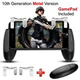 Game Controller, IUGGAN Game Pad Sensitive L1R1 Shoot and Aim Keys Joysticks Shooter Controller for PUBG/Knives Out/Rules of Survial Gaming Triggers for IOS and Android (10th Gen + Gamepad) (Color: 10th Gen + Gamepad)