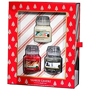 Yankee Candle Christmas Keepsake Box With 3 Small Jars Gift Set