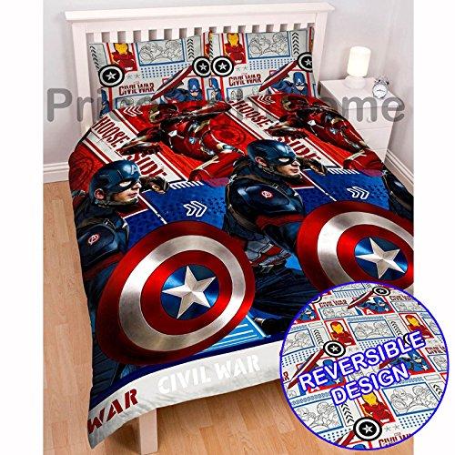 Marvel Captain America Civil War Double/US Full Duvet Cover Set