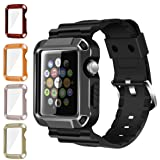 iiteeology Compatible Apple Watch Band, Rugged Protective iWatch Case and Band Strap with Built-in Screen Protector for Apple Watch Series 3/2/1 (5 in 1 Kit, 42mm) (Color: 5 -in-1 42mm, Tamaño: 42mm)