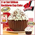 Big Top Cup Cake Silikon Backform 3er-Set Rot