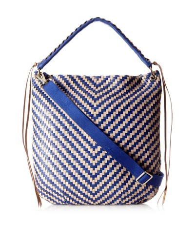 Christopher Kon Women's Alisson Convertible Hobo, Cobalt/Biscotto As You See