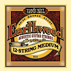 Ernie Ball 2012 Earthwood 80/20 Bronze 12 String Medium Acoustic Guitar Strings available at Amazon for Rs.750