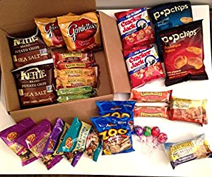 Delicious Snacks Care Package - Great Gift for College Students, Office Snacks, Vacations and Home
