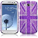 Samsung Galaxy S3 i9300 Purple Union Jack Diamante Case / Cover / Shell / Shield PART OF THE QUBITS ACCESSORIES RANGEby Qubits