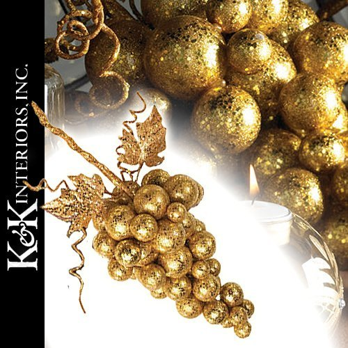 Christmas Ornaments | Fruit 50389-GO Large Gold