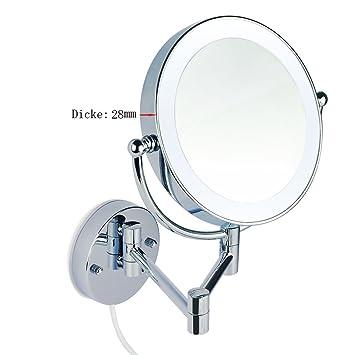 led beleuchtet wundersch ner kosmetikspiegel 1 10 fach zoom mit infrarot sensor 3cm extra. Black Bedroom Furniture Sets. Home Design Ideas