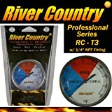 River Country RC-T3 Color Coded Thermometer Barbecue Accessory