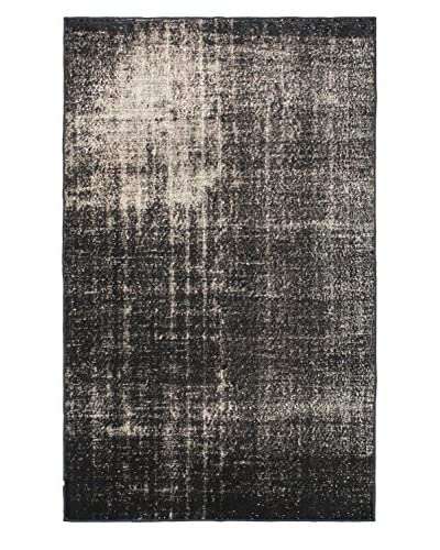 Oak Rugs Hand-Knotted Color Transition Wool Rug, Black, 5' 4 x 8' 5