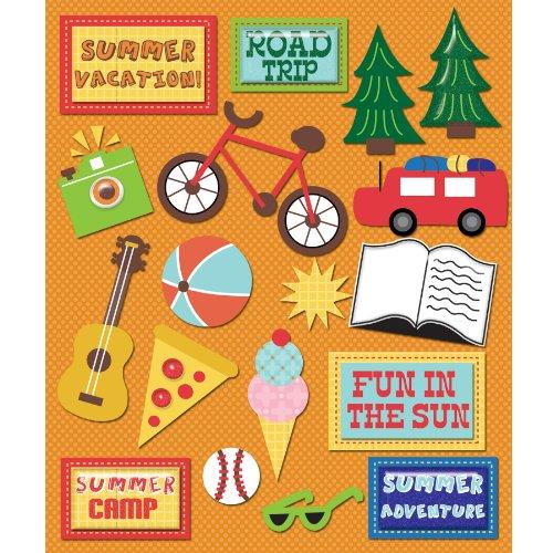 KandCompany Summer Vacation Sticker Medley