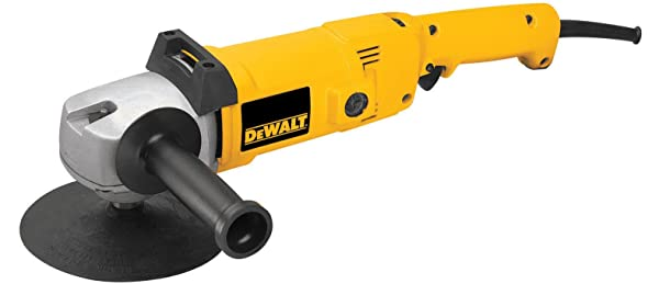 DEWALT DW849 8 Amp 7-Inch/9-Inch Electronic Variable-Speed Right-Angle Polisher (Color: Yellow)