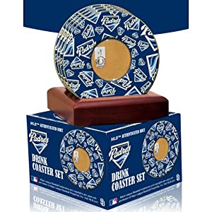 MLB San Diego Padres Coasters With Certified Authentic Field Dirt by Steiner Sports