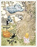 Alice in Wonderland Chesire Cat in Tree Fantasy Decorative Story Book Art Poster Print, Unframed 11x14