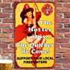 8216Firefighters Vintage Rustic Metal Sign  Predrilled with