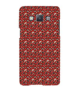 iFasho Modern Art Design animated cloth Pattern of flower Back Case Cover for Samsung Galaxy A5