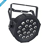 Wireless Stage Light, LaluceNatz 18LED RGB Portable Par Light with Battery Powered 4 Hours Playing by IR Remote DMX and Sound Activated for Wedding Church Stage Lighting (Color: Battery 18LED Par Lights)