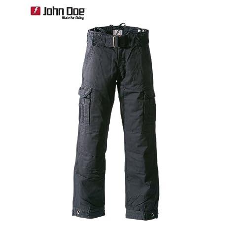 John Doe Kamikaze Pantalon cargo Regular Cut avec fibres en DuPont KEVLAR®-Noir